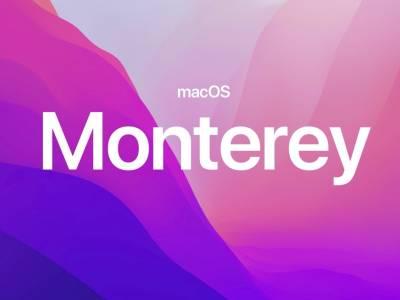 macOS Hintergrundbild mit der Aufschrift Monterey